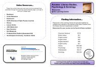 Access literary studies, psychology and sociology