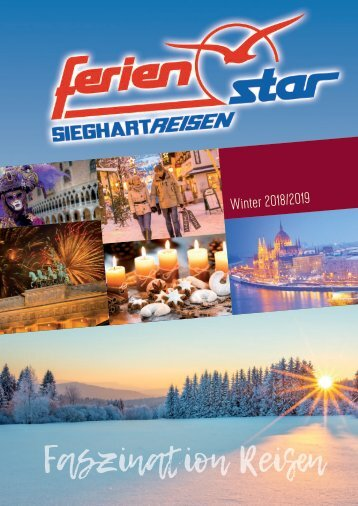 Sieghart Reisen Winterkatalog 2018/2019