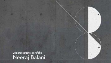 Neeraj Balani - Undegraduate Portfolio