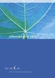 Jahresbericht 2010 - VAKA