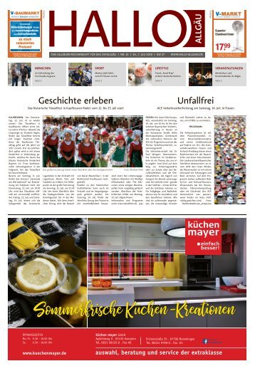 Hallo-Allgäu Kaufbeuren, Ostallgäu vom Samstag, 07.Juli