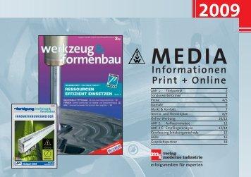 Informationen Print + Online - Werkzeug und Formenbau