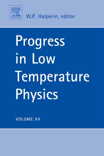 progress in low temperature physics - Developers