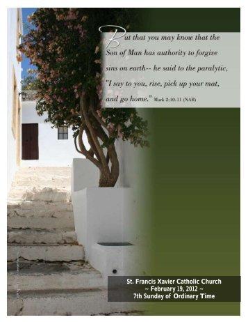 St. Francis Xavier Catholic Church ~ February 19, 2012 ~ 7th ...