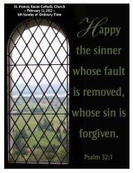 St. Francis Xavier Catholic Church ~ February 12, 2012 ~ 6th ...