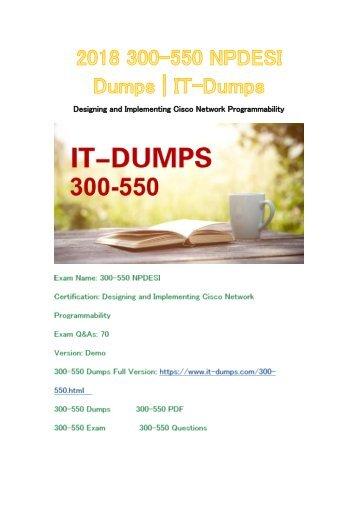 2018 Cisco 300-550 Real Dumps | IT-Dumps
