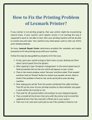 How to Fix the Printing Problem of Lexmark Printer?