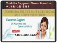 Call 1-833-283-8333 Toshiba Phone Number For Solving Any Issues