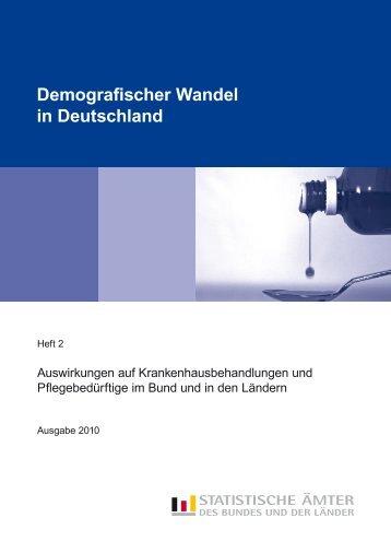 Demografischer Wandel in Deutschland, Heft 2 ... - Statistische Ämter
