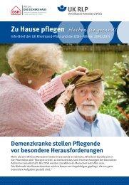 Zu Hause pflegen – bleiben - Unfallkasse Rheinland-Pfalz