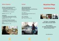 Häusliche Pflege Kalk/Höhenberg - Sozial-Betriebe-Köln