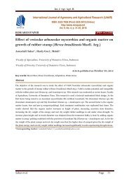 Effect of vesicular arbuscular mycorrhiza and organic matter on growth of rubber stump (Hevea brasiliensis Muell. Arg.)