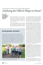 Stärkung der Hilfe & Pflege zu Hause - die Zeitschrift für Kinaesthetics