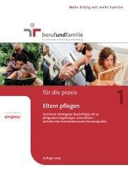 1 für die praxis Eltern pflegen - Beruf & Familie gGmbH