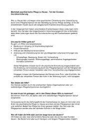 Merkblatt psychiatrische Pflege zu Hause - Teil der ... - Pro Infirmis