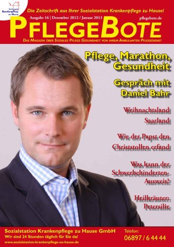 (Dezember 2012 / Januar 2013) Saarland - PflegeBote
