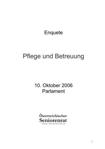 Pflege und Betreuung - Österreichischer Seniorenrat