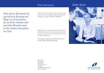Onko-Spitex (Flyer) - Spitex Basel