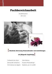 Häusliche Betreuung Demenzkranker & die Auswirkungen auf die ...