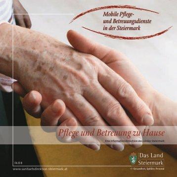Pflege und Betreuung zu Hause - Land Steiermark
