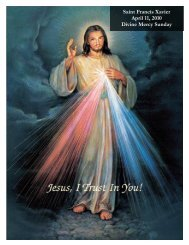 Divorced? - St. Francis Xavier