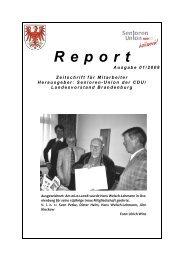 Report 01 2008 - Senioren Union Brandenburg