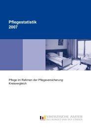 Pflegestatistik 2007 - Pflegegesellschaft Rheinland Pfalz