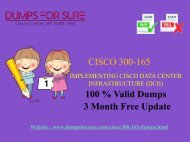 Cisco 300-165 Dumps