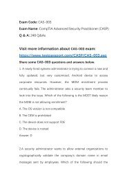 Real CompTIA CASP CAS-003 Questions and answers