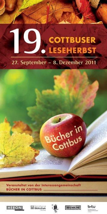 cOTTBUSER LESEhERBST - Bibliothek Cottbus