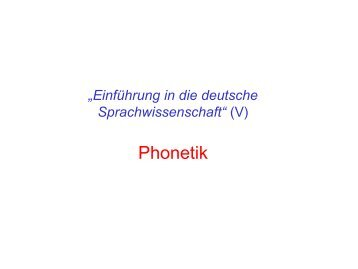 Auditive Phonetik