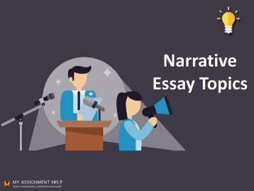 Creative Boost with These Good Narrative Essay Topics