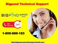 Quick Support To Bigpond Technical Support  |1-800-980-183