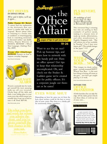 The Office Affair - Challenge Online