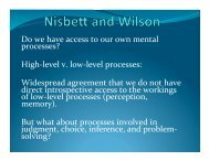 Do we have access to our own mental processes? High-‐level v. low ...