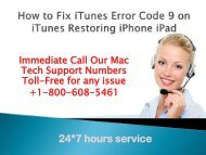 How to Fix iTunes Error Code 9 on iTunes Restoring iPhone, iPad |+1-800-608-5461|