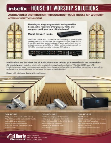 : HOUSE OF WORSHIP SOLUTIONS - Liberty Cable