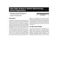 Fibre Optic Probes in Optical Spectroscopy, - spx.arizona.edu