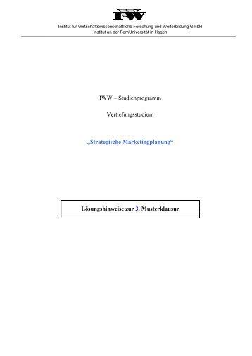 60 Punkte - FernUniversität in Hagen