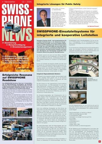 SWISSPHONE-Einsatzleitsysteme für integrierte und kooperative ...