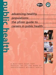 Advancing Healthy Populations: The Pfizer Guide to Careers