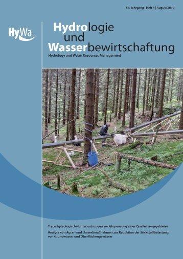 Tracerhydrologische Untersuchungen am Partnach-Ursprung