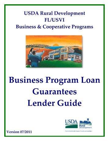 Business Program Loan Guarantees Lender Guide - USDA Rural ...
