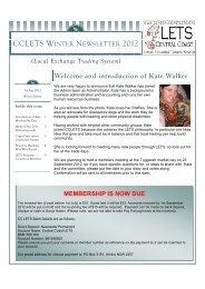 Central Coast Newsletter - Winter 2012 - Community Exchange ...