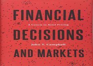 [+][PDF] TOP TREND Financial Decisions and Markets: A Course in Asset Pricing  [FULL]
