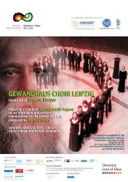 GEWANDHAUS CHOIR LEIPZIG Conducted by ... - Christ College