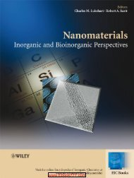 Nanomaterials Inorganic and Bioinorganic Perspectives