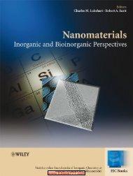 Nanomaterials Inorganic and Bioinorganic Perspectives