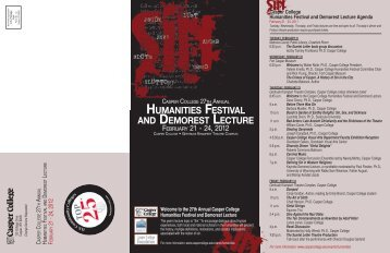 the 27th Annual Casper College Humanities Festival and Demorest ...