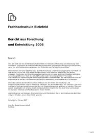 Forschungsbericht 2006 - Fachhochschule Bielefeld